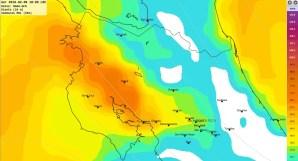 Fuertes vientos las próx. 48hrs por empuje frío en Costa Rica.