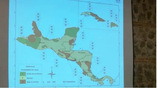 Mesoamérica - Perspectiva Climático MJJ 2016