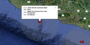Epicentros sismos Mié. 8-6-16
