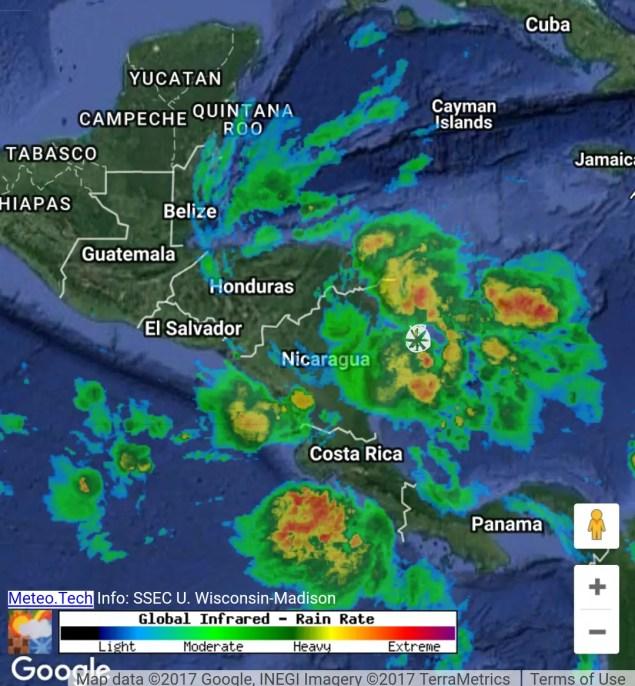 Lluvia a las 7am hora C.A.