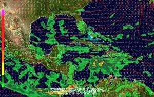 Lluvias fuertes sobre el Pacífico de CR y PA desde Miércoles