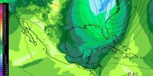 Mapa de temperatura a 1500m (850mb) viernes PM