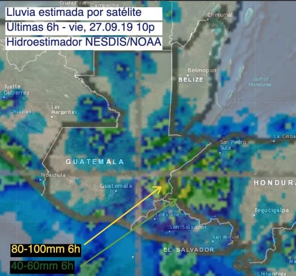 Lluvia estimada por satélite 10p