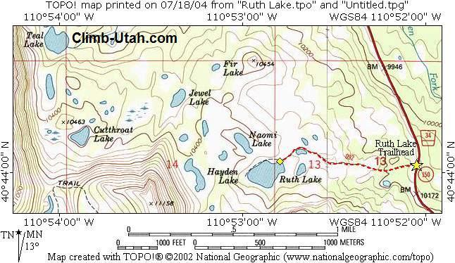 Oregon Backpacking Trails Maps - Oregon hiking trails map