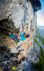 Climbing Cayman Brac - Open climb - Orange Cave - Miha - Photot by Jim