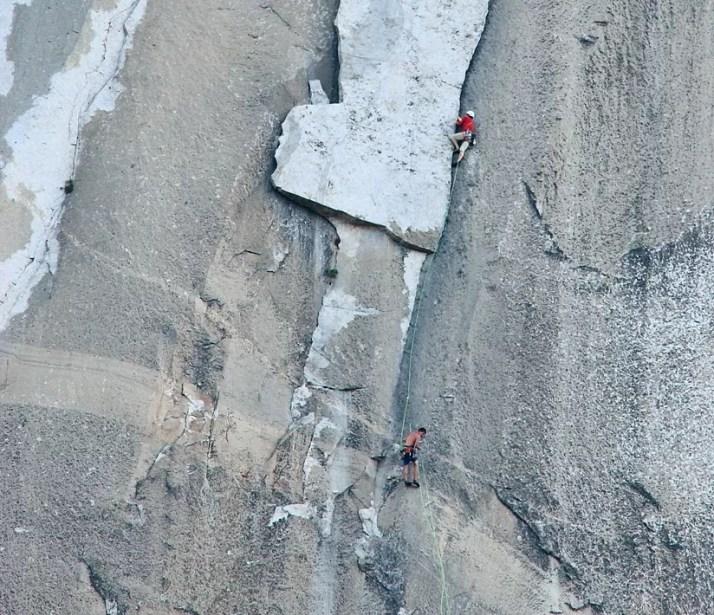 Hans Florine i Alex Honnold podczas wspinania na The Nose, El Capitan. 10 największych osiągnięć wspinaczkowych