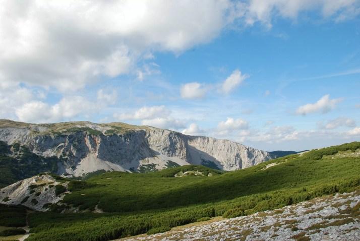 widok z Preinerwand, Austria, Alpy, Masyw Rax-Schneeberg