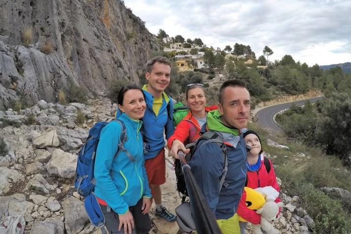 Dolina Xalo, Alcalali, Costa Blanca, ekipa wyjazdowa
