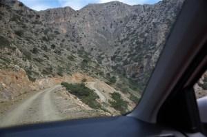 Droga do miejscowości Agios Ioanis