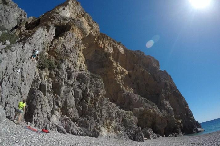 drogi wspinaczkowe wąwóz Agiofaragio, Kreta