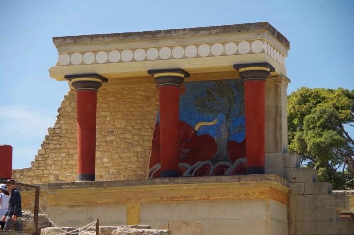 Freski, pałac Knossos