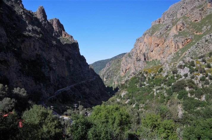 Droga do Elafonisi przez Wąwóz Topolia
