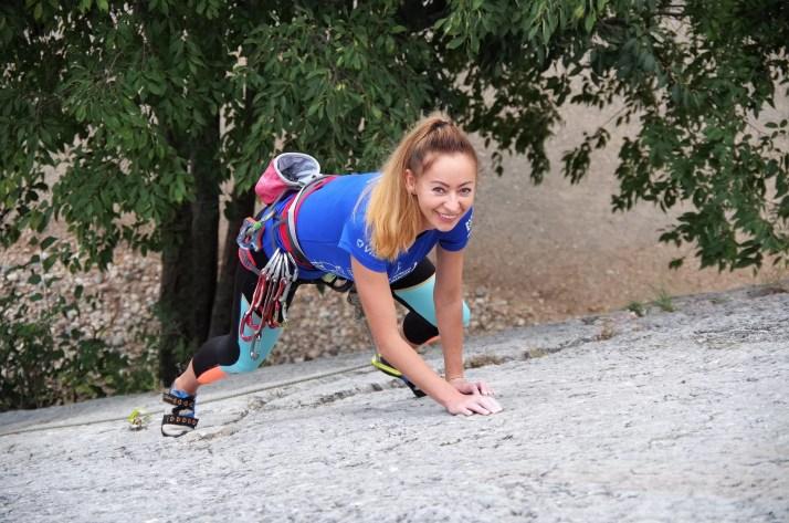 Ania na drodze wspinaczkowej w rejonie Placche di Baone w Arco