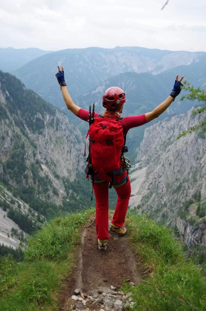 Punkt widokowy na ferracie Alpenverrinsteig