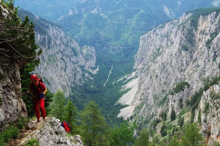 Ostatnie metry ferraty Alpenverrinsteig