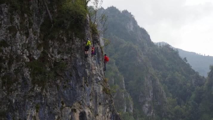 Wspaniała ściana do pokonania na ferracei Fregio und Ginestre