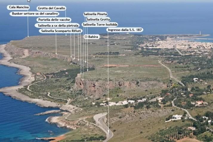 Rejon wspinaczkowy Scogliera di Salinella, San Vito Lo Capo