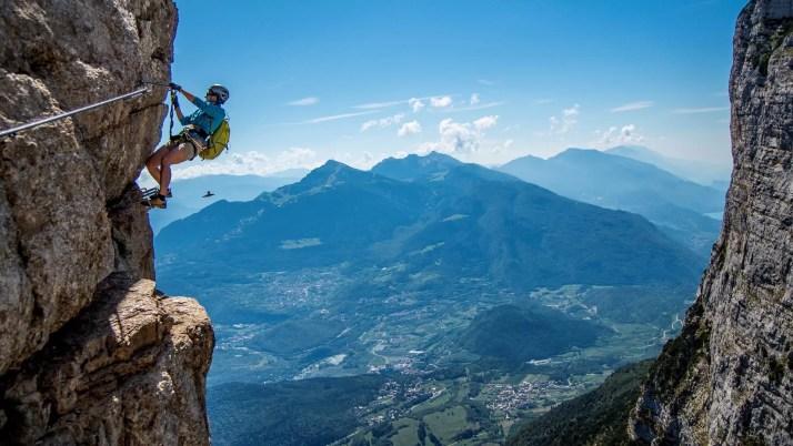 Via ferrata delle Aquile - wyjazd na via ferraty nad jezioro Garda