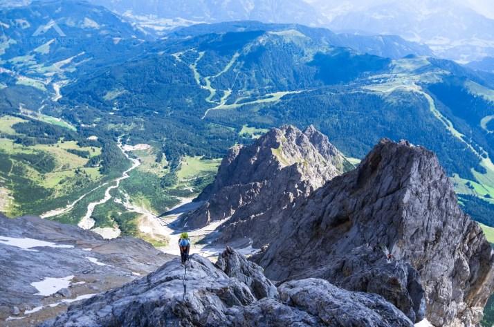 Wyjście płytami na Hoher Kopf (2875 m n.p.m.), ferrata Kӧnigsjodler