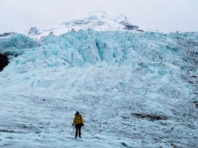 Snow over Coleman Icefall