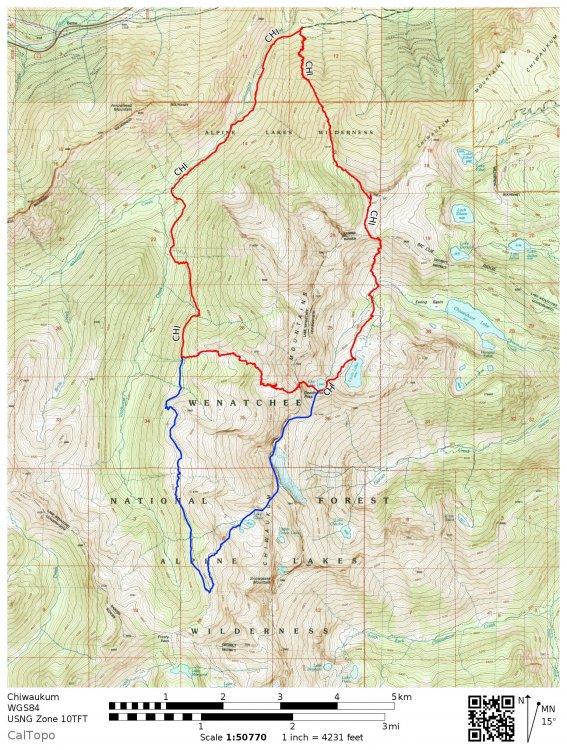 Big Chiwaukum Trip Map