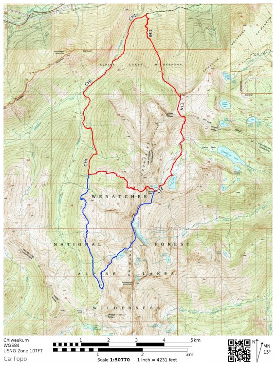 Big Chiwaukum Trip Map