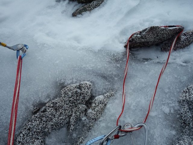 Triple Couloir Belay