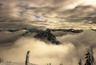 Swirling clouds around Lichtenberg.