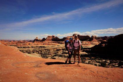 Walking beautiful red rock.
