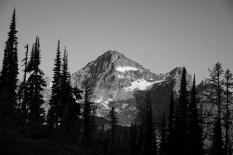 Our first view of the not-so-distant Black Peak.