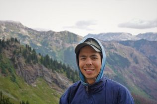 Half Asian skier-climber Kyle.