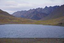 The stunning lake at the pass.