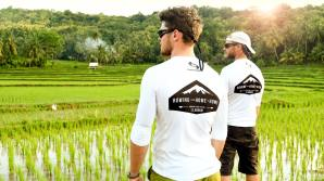 Exploring the bright green rice fields