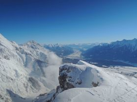 Blick vom Gipfel ins Inntal