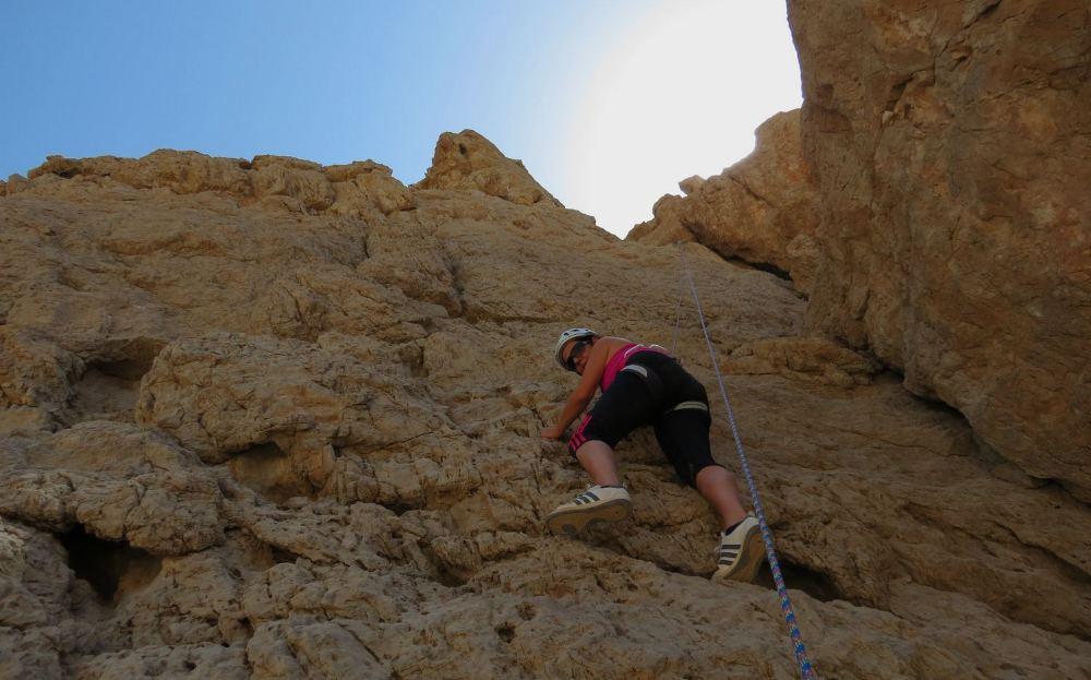 Patricia in Slab Climb