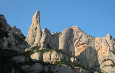 le fameux Cavall Bernat, le doigt de Montserrat