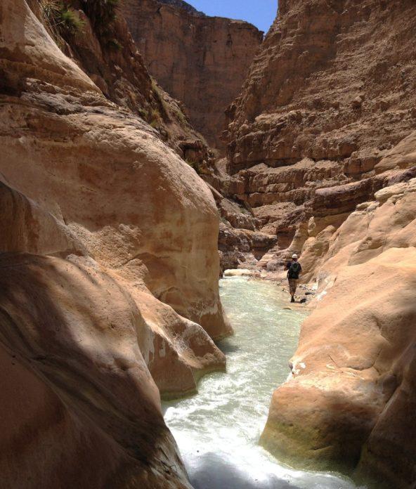 dans les couloirs du canyon