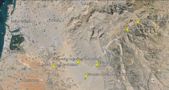 Route d'accès au Wadi Nakhab depuis RAK