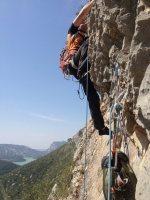 Basalm del Tigre a la paret Bucolica, Oliana 17