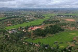 Falaise d'Ambohimanga, session de bolting au dessus des rizières 4