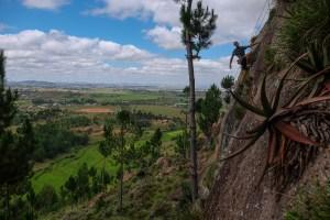 Falaise d'Ambohimanga, session de bolting au dessus des rizières 20