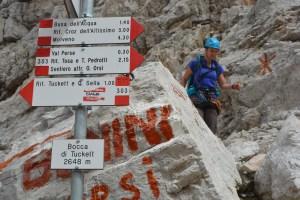 Sentiero Benini, Dolomites 98
