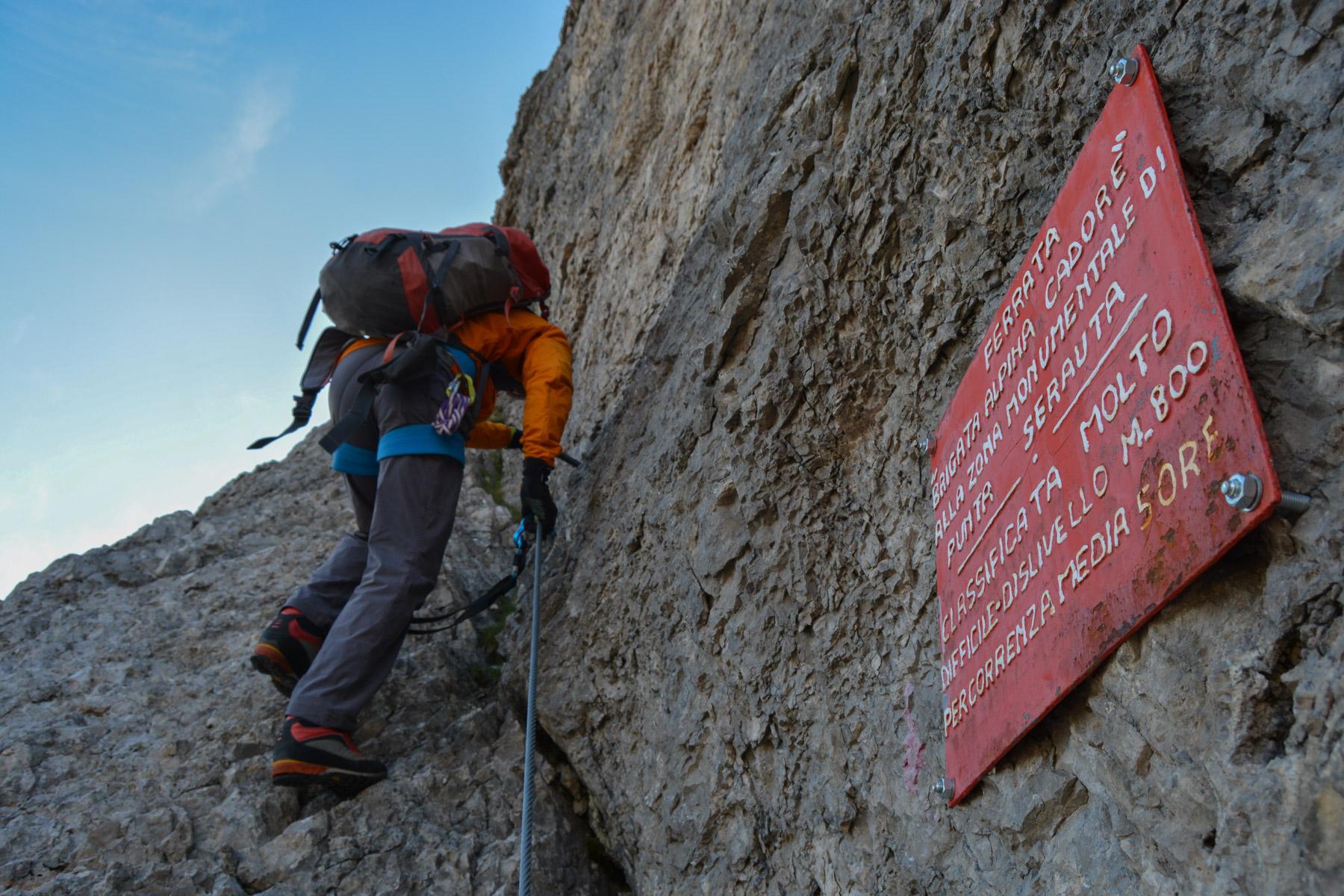 Via Eterna Brigata Cadore, Dolomites 7