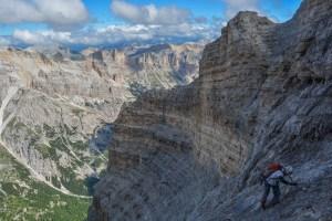 Via ferrata dans les Dolomites