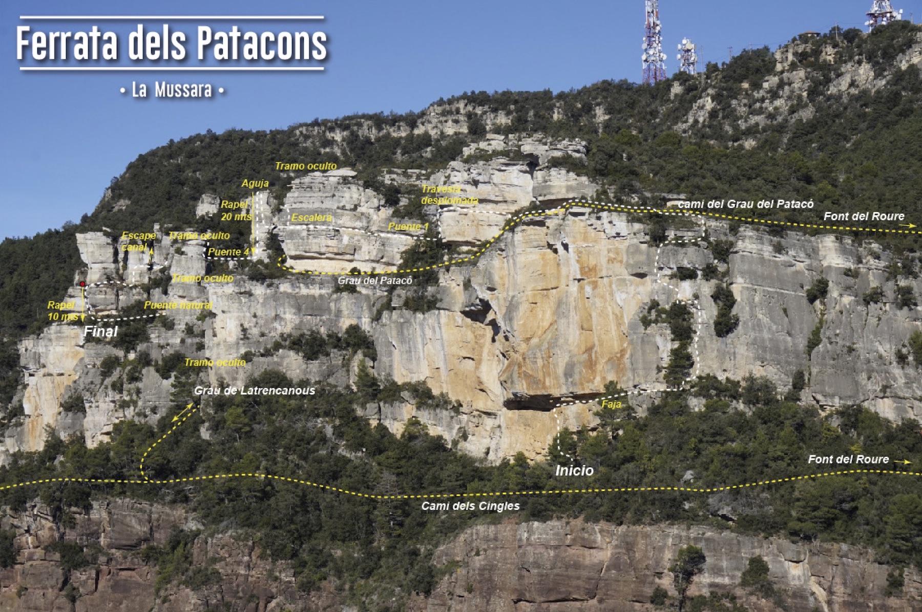 Ferrata dels Patacons, Catalunya 3