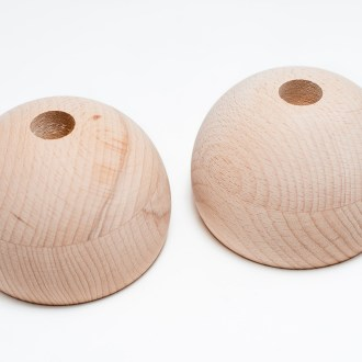 Wooden hemispheres