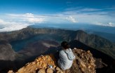 Summit of Mount Rinjani 3726 meters