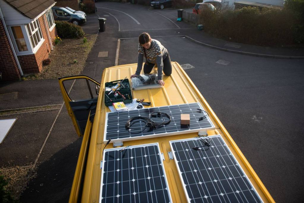how to install solar panels on a campervan