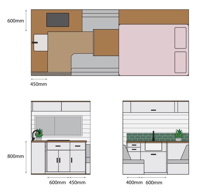 campervan kitchen ideas van conversion layout floorplans