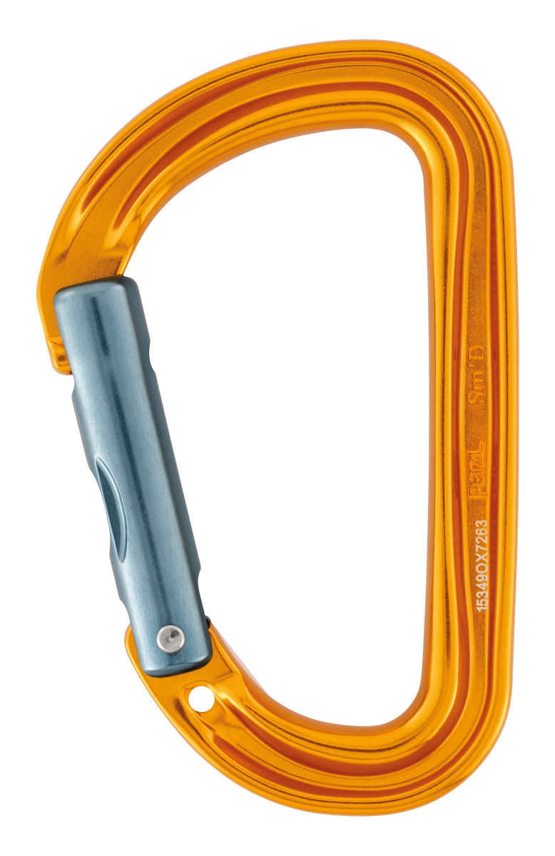 SM'D WALL H-frame carabiner, with tethering hole